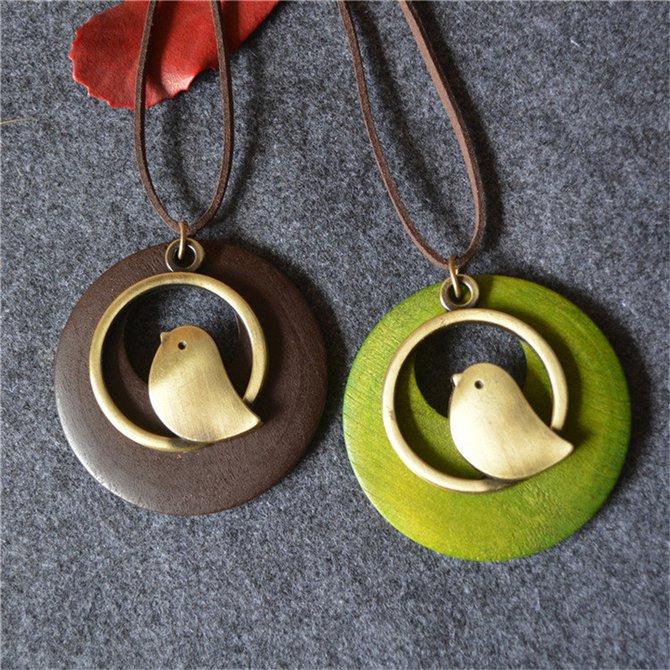 Retro Halskette Mit Vogel  Damen Accessories  Damen
