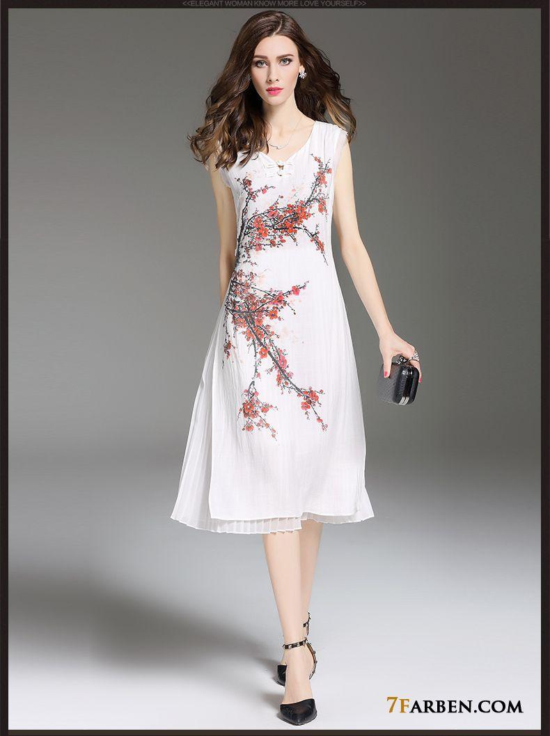 Retro Lange Schlank Sommer Damen Elegant Kleider Kaufen