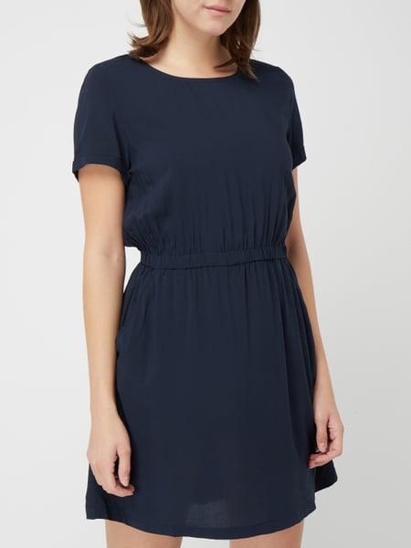Review Kleid Mit Gummizug In Blau / Türkis Online Kaufen