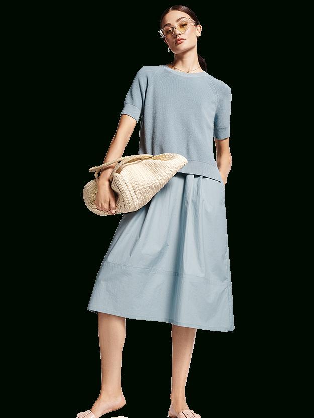 Riani 2Teiliges Kleid Mit Strickpullover In Blau
