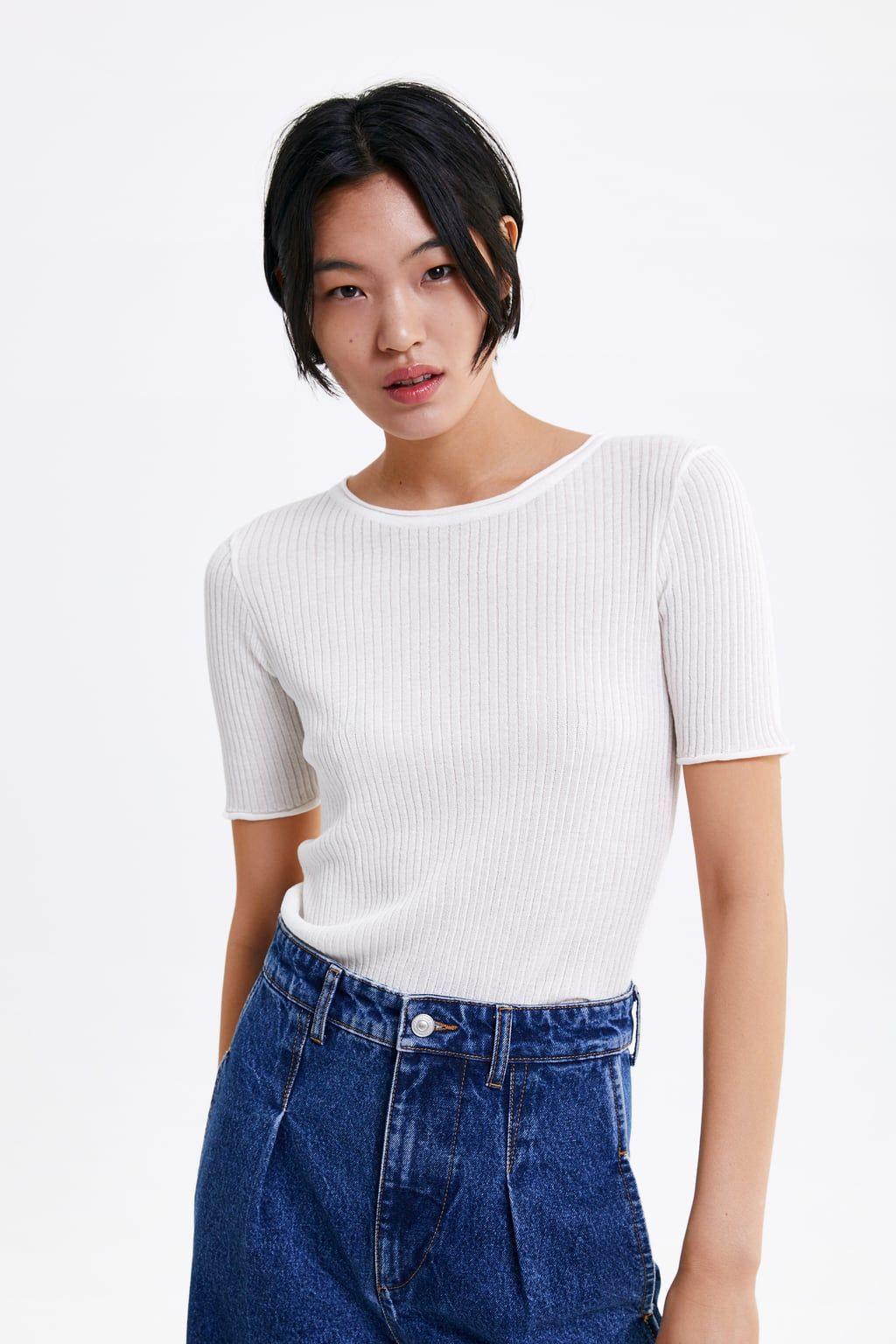 Ribbed Tshirt  Ribbed Top Zara Women Zara
