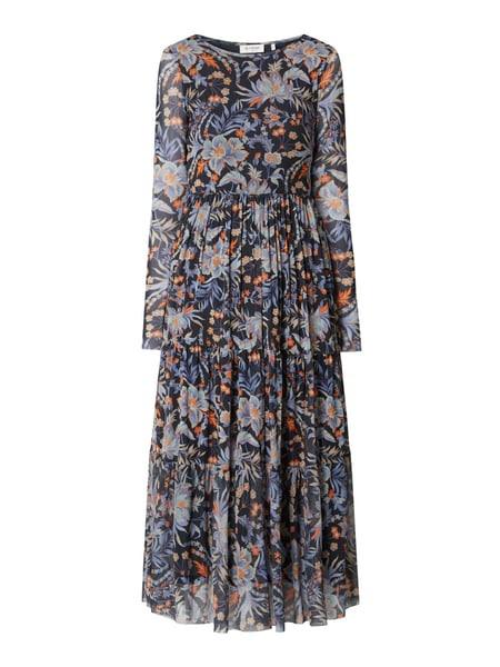 Rich  Royal Kleid Aus Mesh Mit Dreiviertelärmeln In Blau