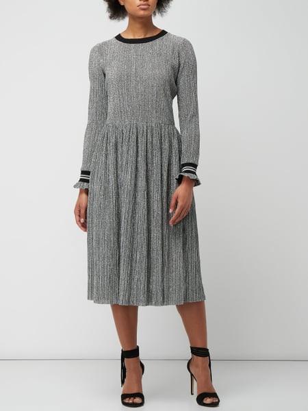 Rich  Royal Kleid Mit Effektgarn In Grau / Schwarz Online