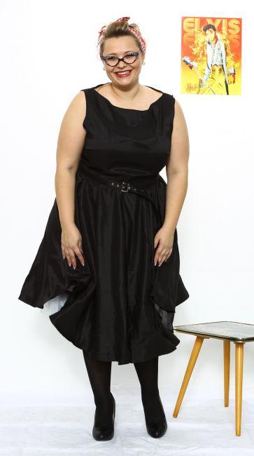 Rita  50S Kleid  Weinrot  Debbysde