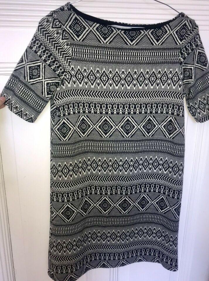 River Island Kleid Azteken Muster Schwarz Weiß Uk6 Xs 34