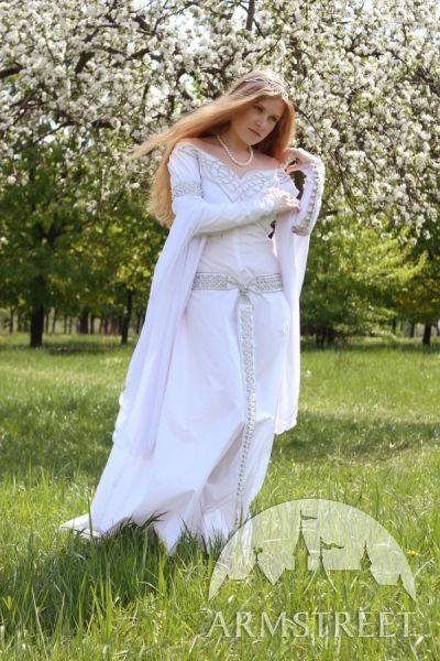 Robe Blanche Nuptiale Médiéval « Isolde »  Robes De