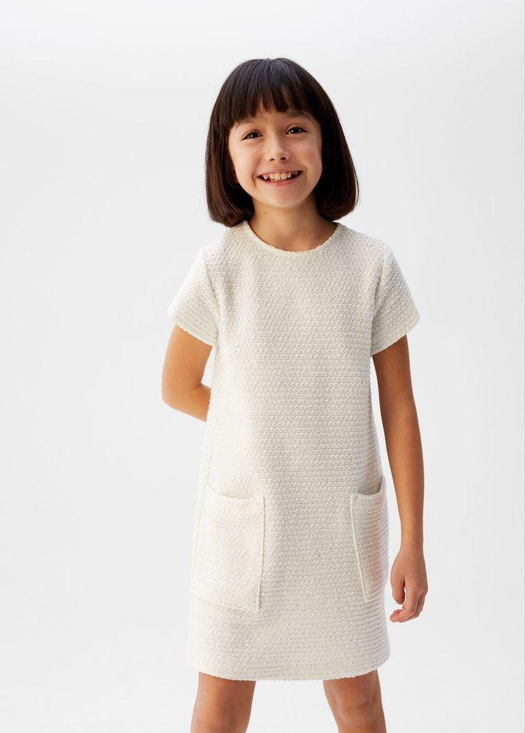 Robe Maille Poches - Fille   Mango Kids France In 2020