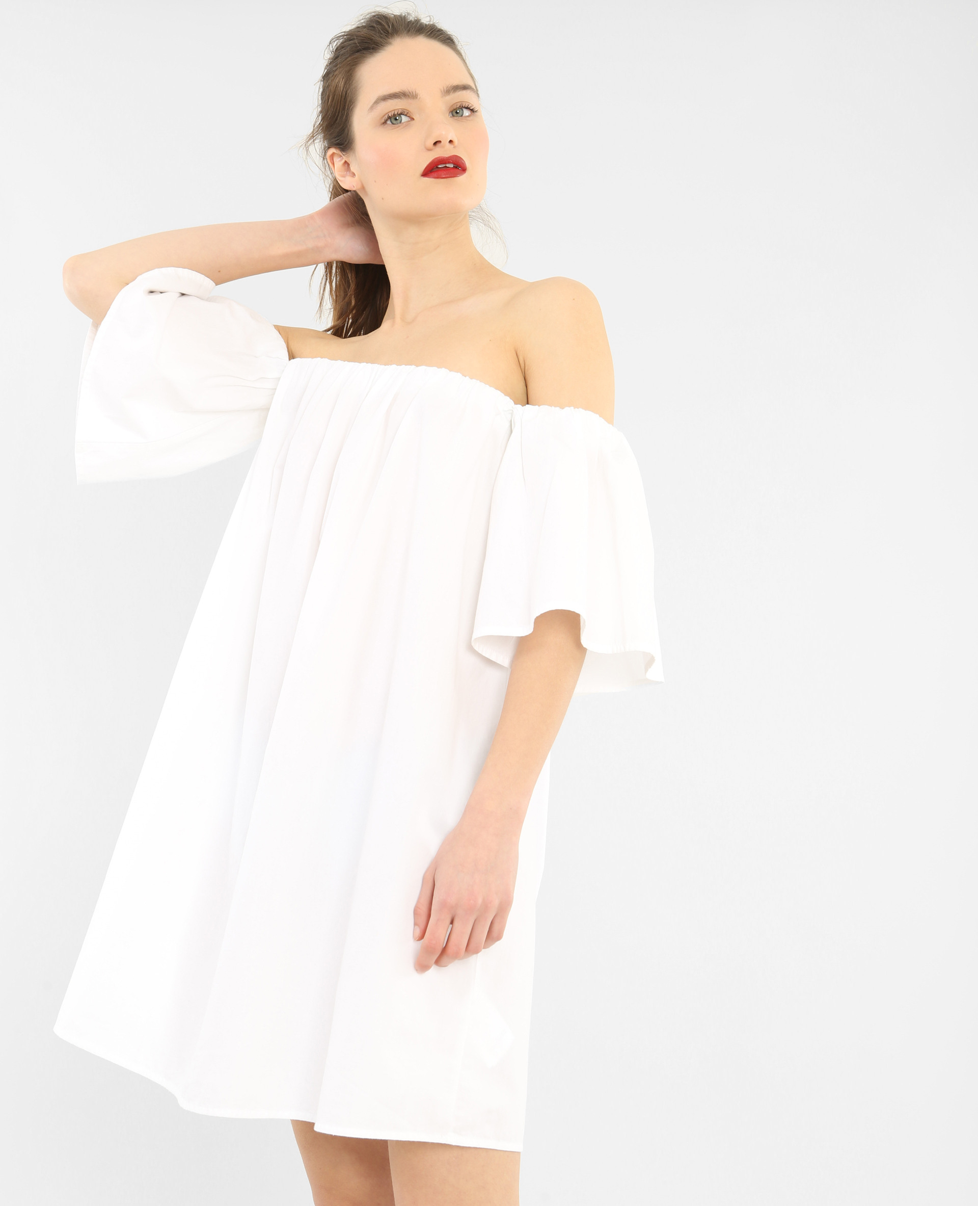 Robe Popeline Blanc  780658905A09  Pimkie