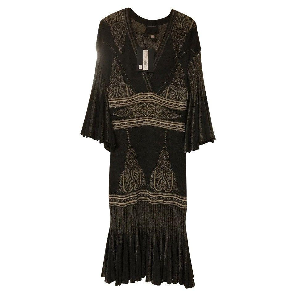 Roberto Cavalli Kleid Mit Muster  Roberto Cavalli Wolle