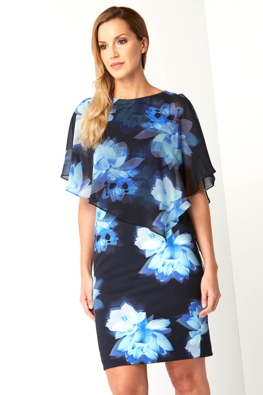 Roman Originals Damen Chiffon Überzug Scuba Kleid  Ebay
