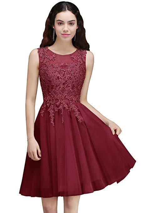 Rosa Abendkleid Knielang