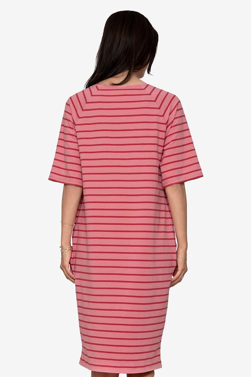 Rosa Gestreiftes Stillkleid Aus Biobaumwolle  Kaufen Hier