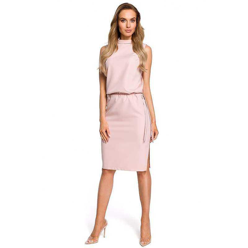 Rosa Kleid Mit Rückenausschnitt  Online Modeshop