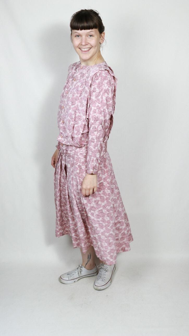 Rosa Kleid Von Lausanne M/L  Vintage Mode Onlineshop