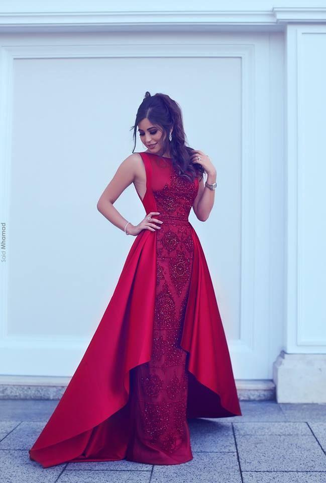 Rote Abendkleid Lang Günstig A Line Spitze Abendkleider