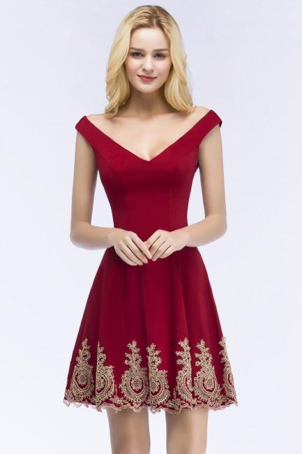 Rote Cocktailkleider Kurz  Abiballkleider Gunstig Online