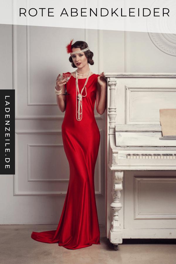 Rote Lange Abendkleider In 2020  Rot Anziehen 20Er Jahre