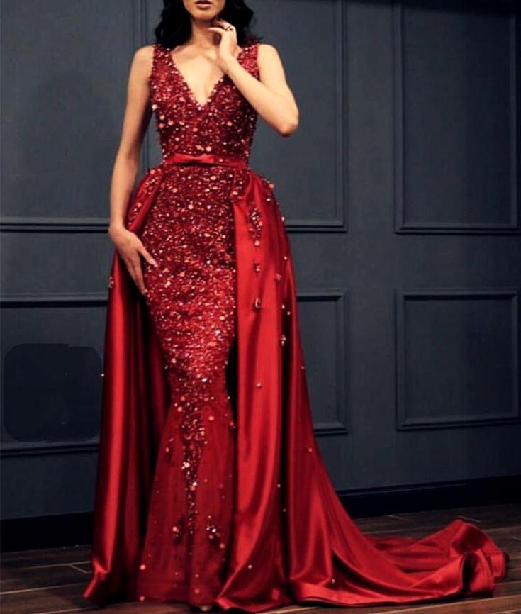Rotes Abendkleid Lang Günstig  Rote Kleider Mit Spitze