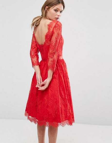 Rotes Damen Kleid