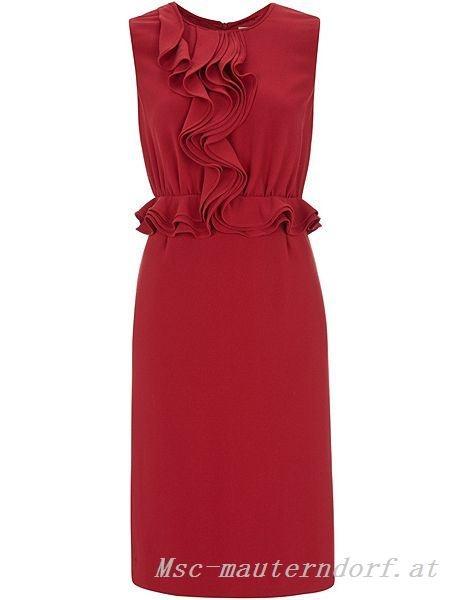 Rotes Etuikleid Kleid