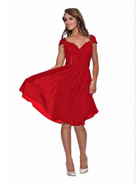Rotes Kleid Knielang