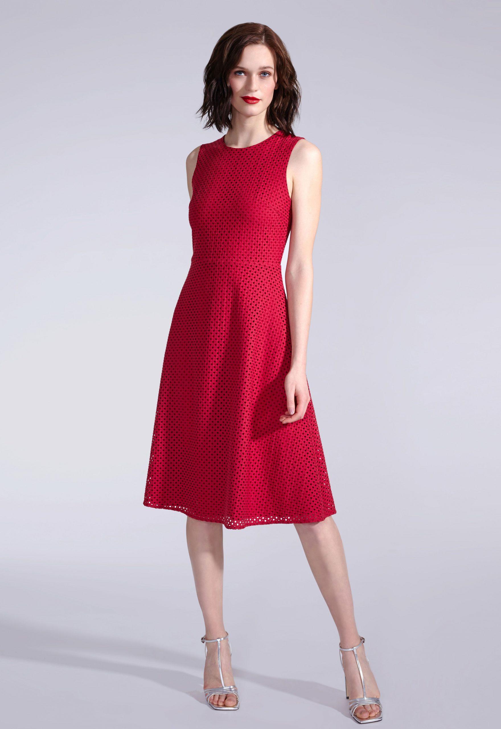 Rotes Kleid Kombinieren Hochzeit  Abendkleid