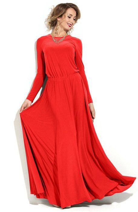 Rotes Kleid Maxikleid Langes Abendkleid Von