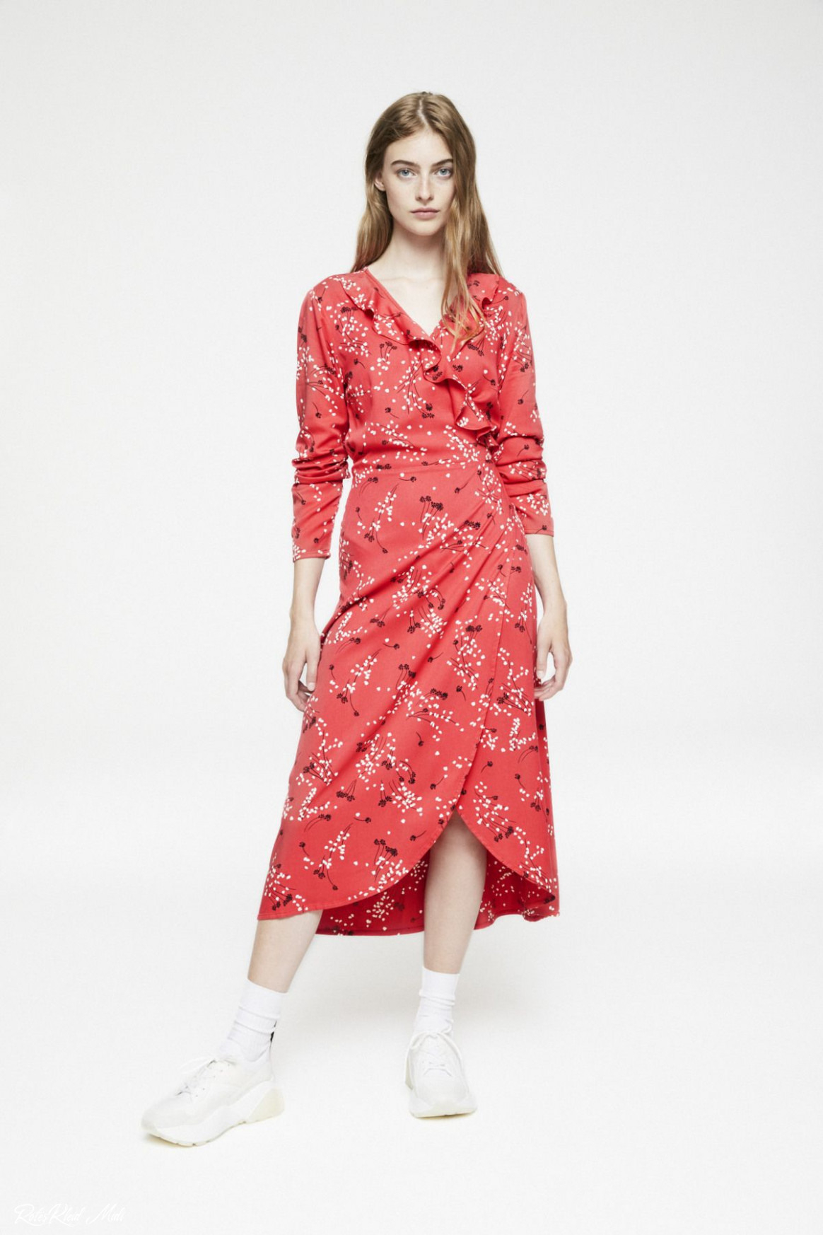 Rotes Kleid Midi  Abendkleider
