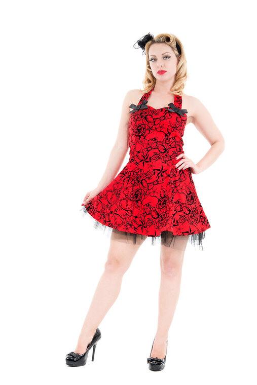 Rotes Kurzes Gothic Kleid  Dedoles