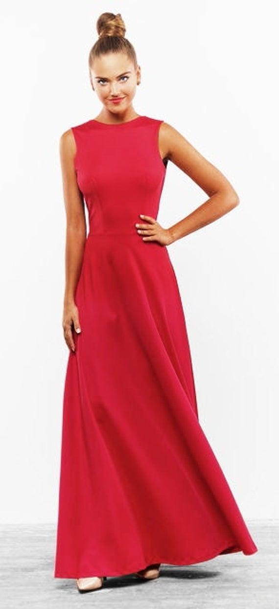 Rotes Langes Kleid Fur Hochzeit  Hochzeits Idee