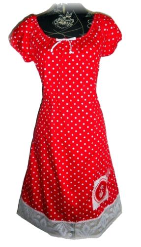 Rotes Matroschka Kleid Mit Punkten Pünktchenkleid Kleid Punkte