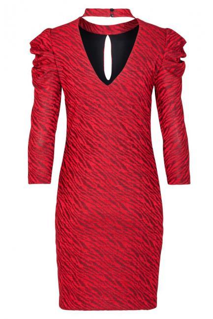 Rotes Puffärmel Kleid Kimy Mit Cutout  Ana Alcazar