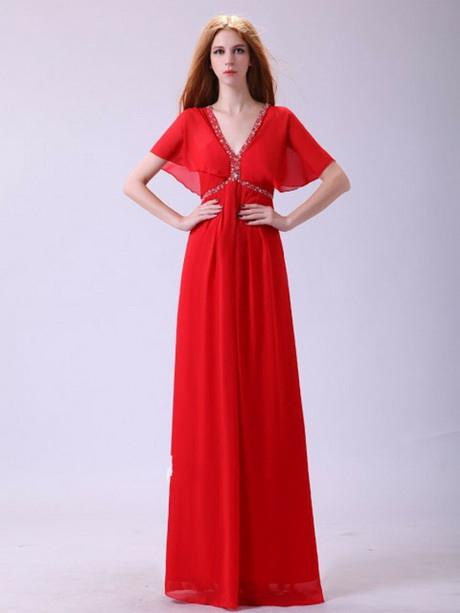 Rotes Sommerkleid Lang