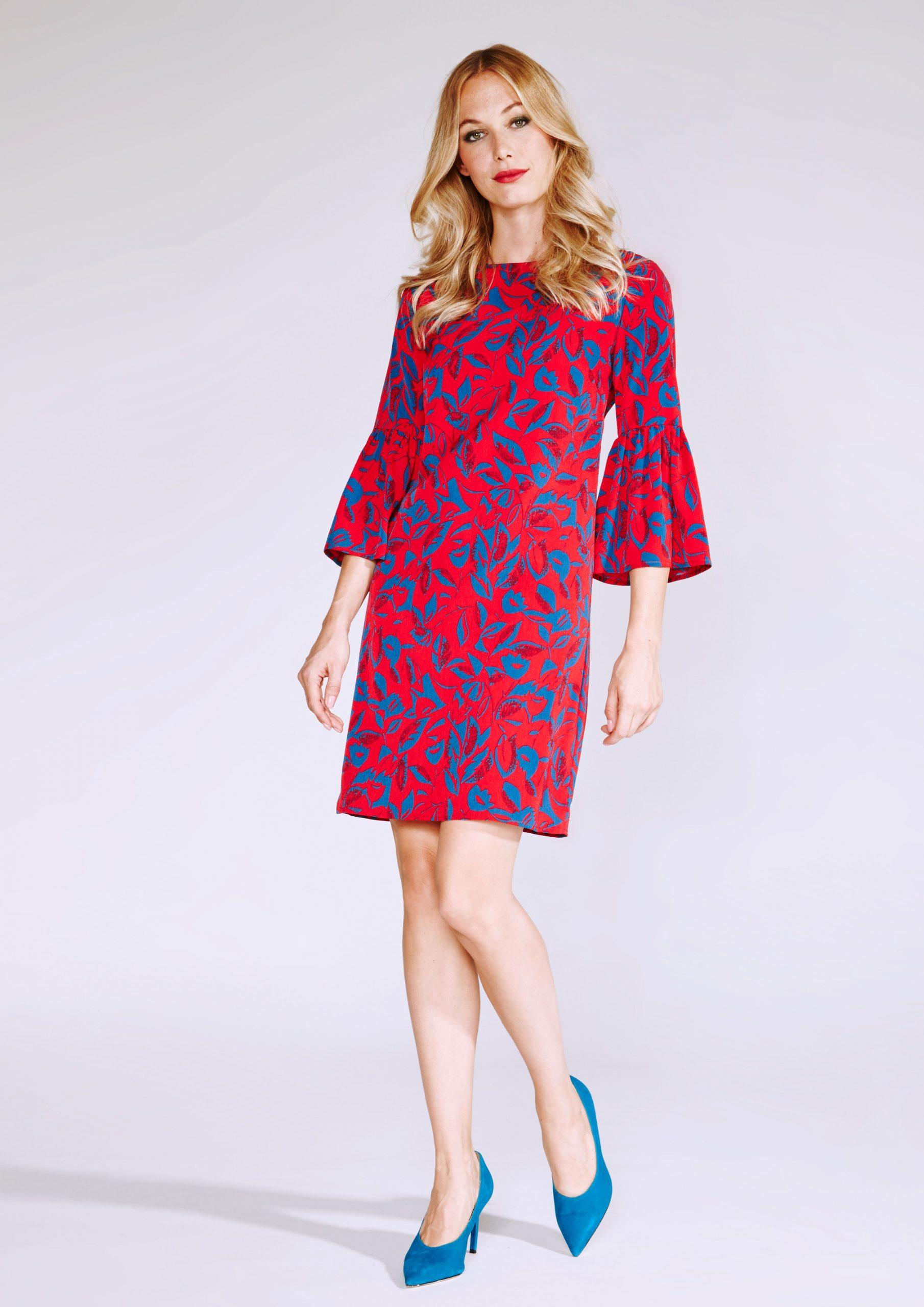 Rotes Tunikakleid Mit Volants  Tunika Kleid Kleider Und