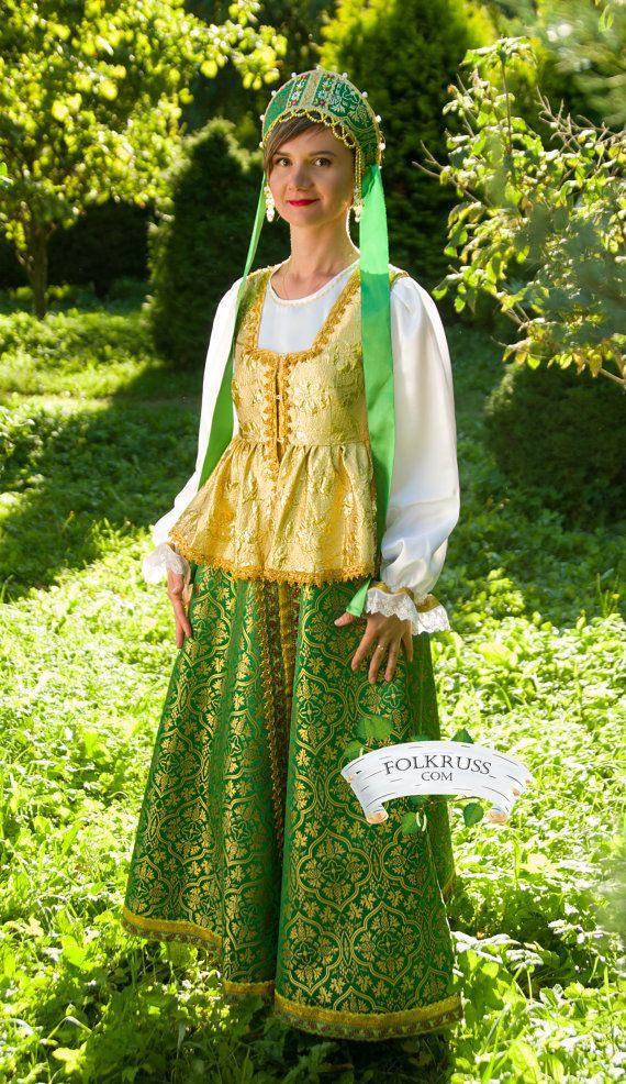 Russische Traditionelle Slawische Kleid Für Frau Sudarinya