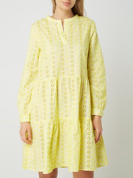 Saint Tropez Kleid Aus Baumwolle Mit Lochstickereien