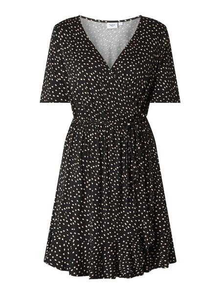 Saint Tropez Kleid Mit Tupfenmuster In Grau / Schwarz