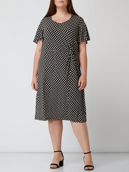 Samoon Plus Size Kleid Mit Allovermuster In Grau