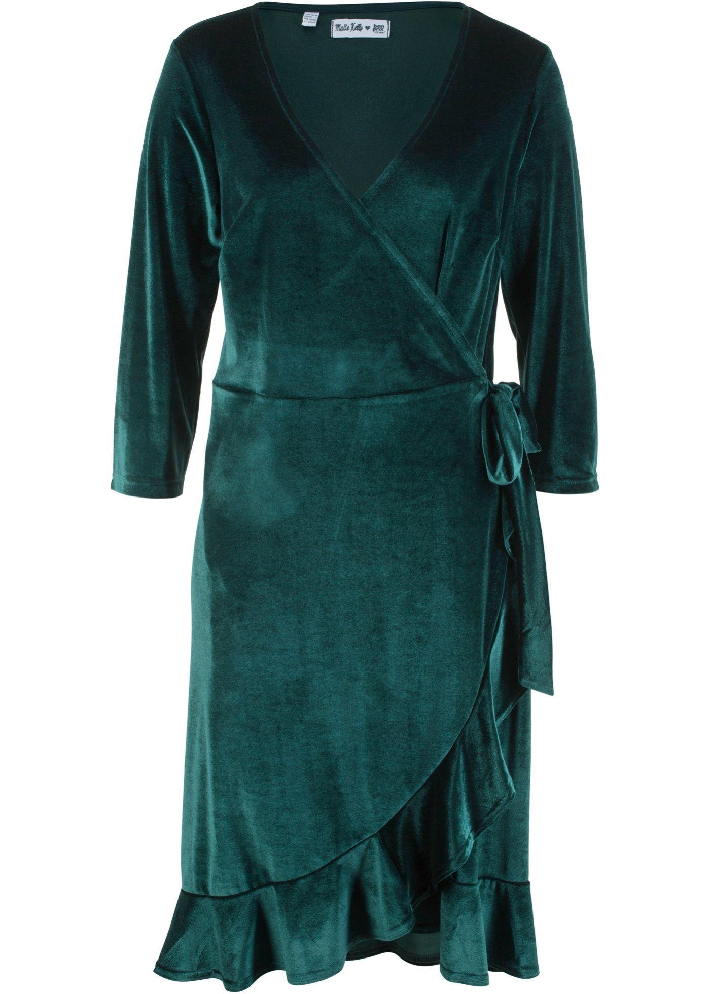 Samt Wickelkleid  Designt Von Maite Kelly  Wickelkleid