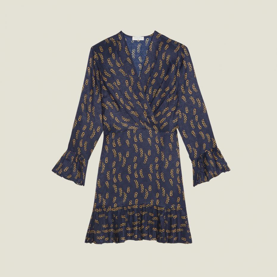 Sandro Paris Kleider  Damen Kurzes Kleid Mit Print Und