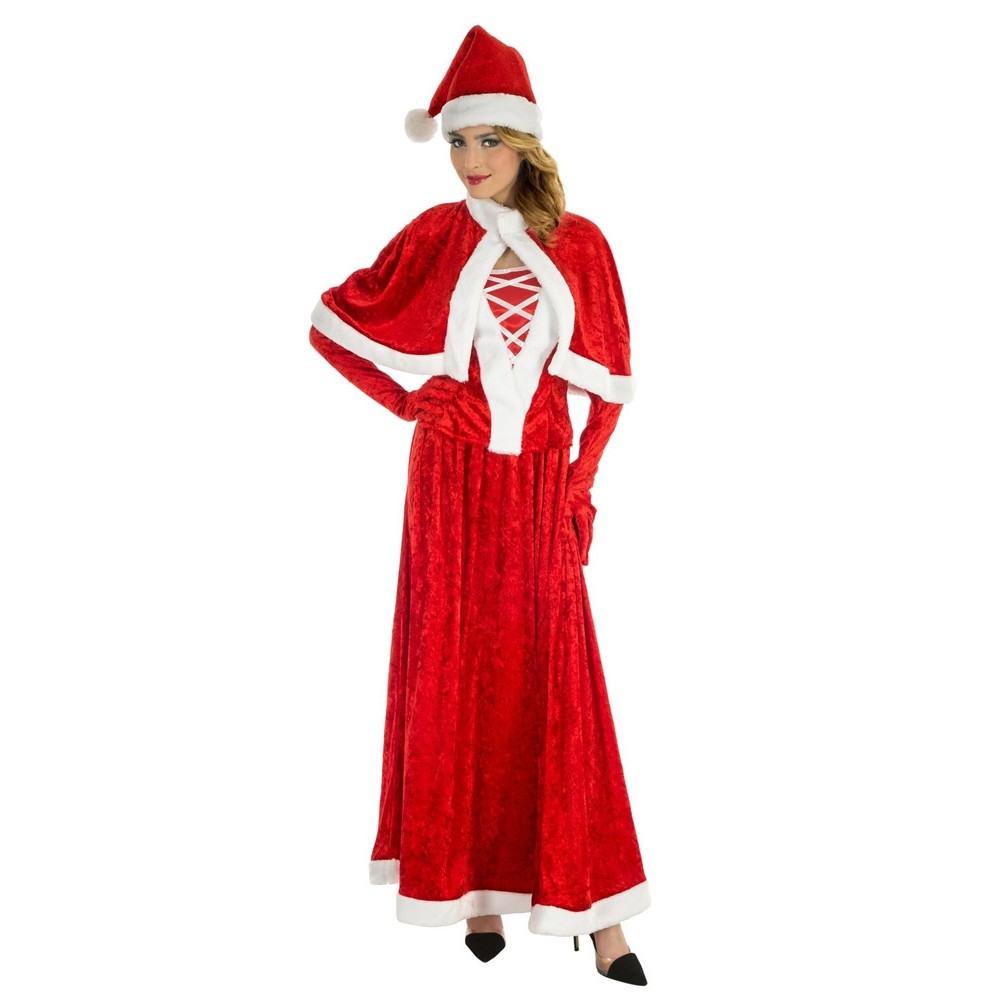 Santa Lady Weihnachtskleid Damenkostüm