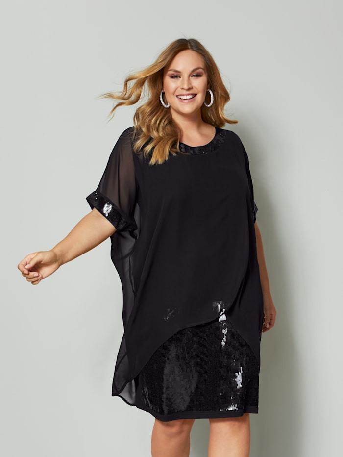 Sara Lindholm 2In1 Kleid Mit Pailletten  Happy Size