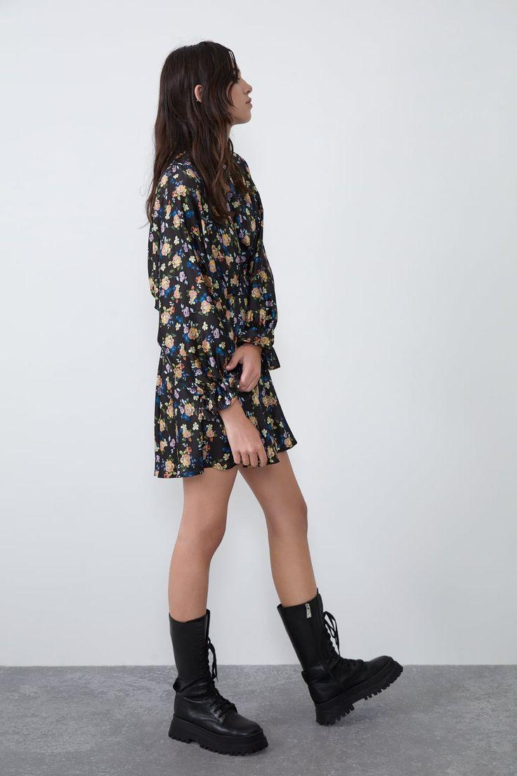 Satin Effect Print Dressjoin Lifewomancornershops
