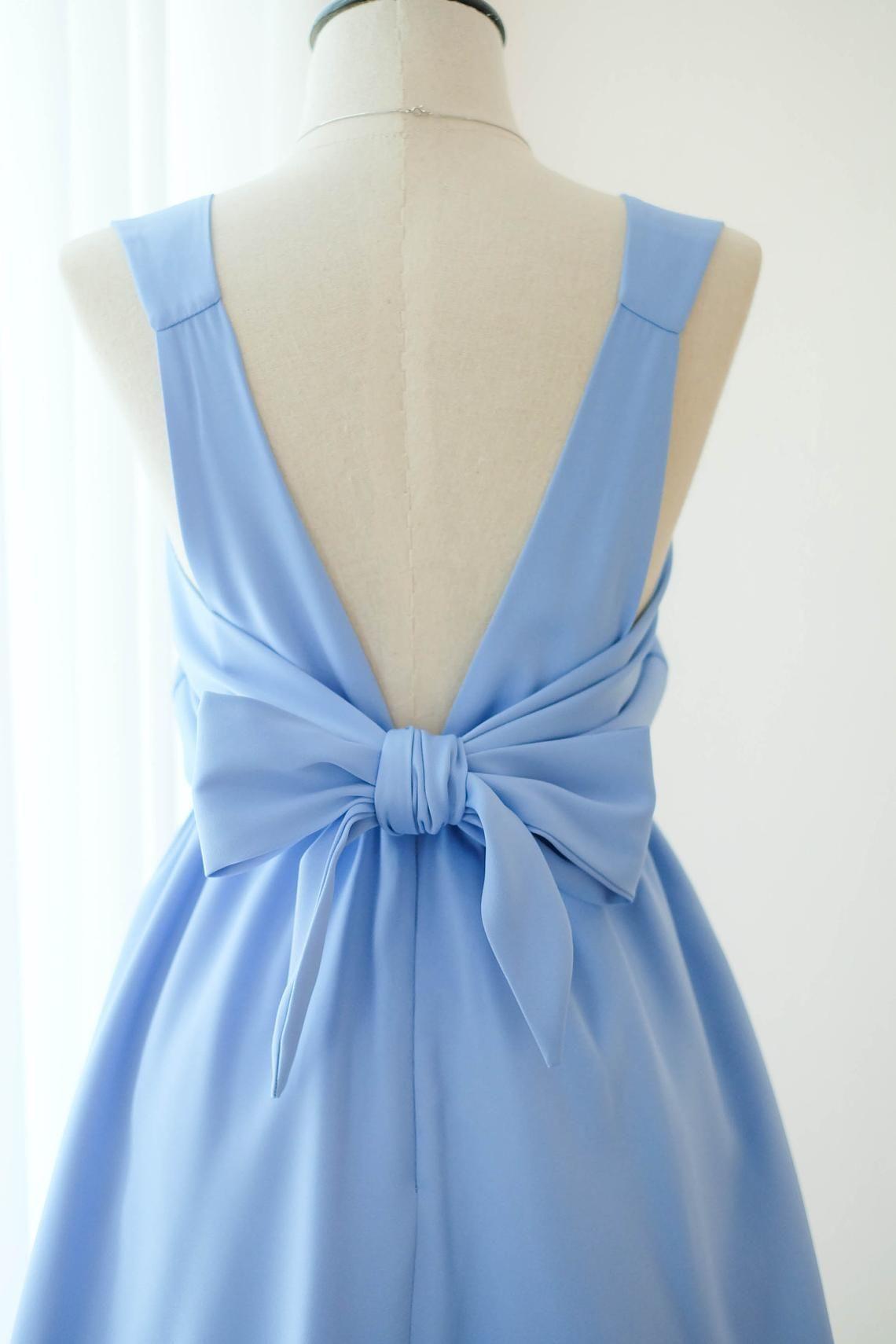 Satin Himmel Blau Kleid Blau Brautjungfer Kleid Hochzeit