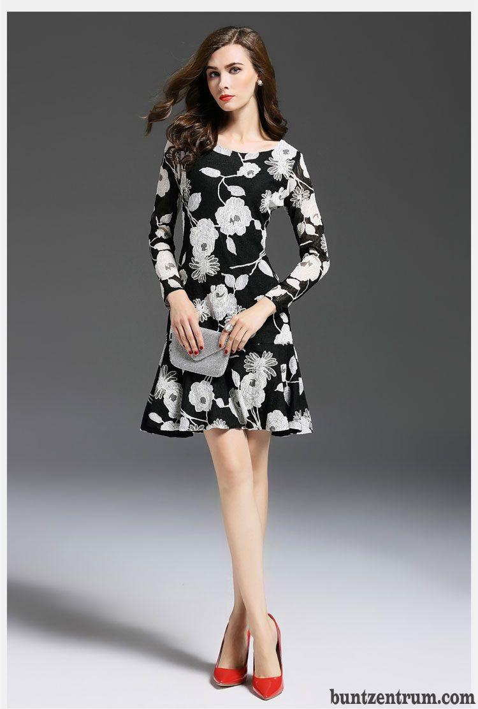 Schlank Europa Kleider Mode Elegant Neu Kleid Spitze