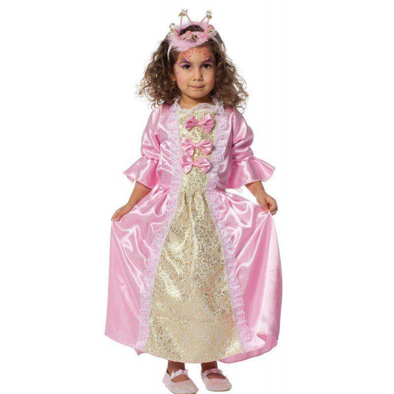 Schleifchen Prinzessin Kinderkostüm Mit Spitze Und