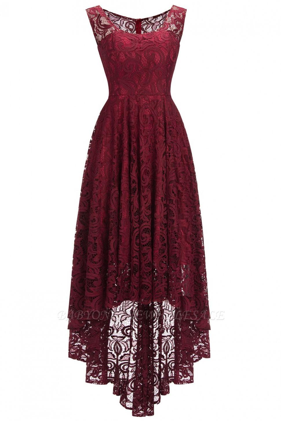 Schlichte Spitze Abendkleider Günstig Schöne Kleider Vorne