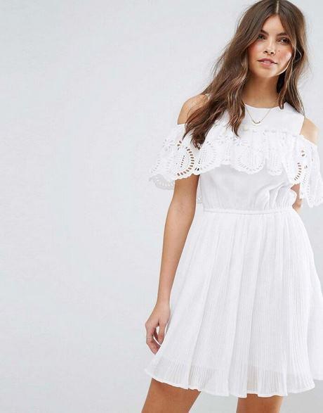 Schlichtes Weißes Langes Kleid