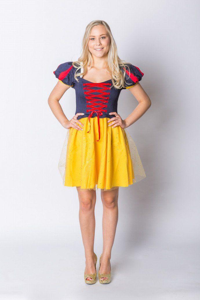 Schneewittchen Kleid Für Karneval  Fasching Kaufen