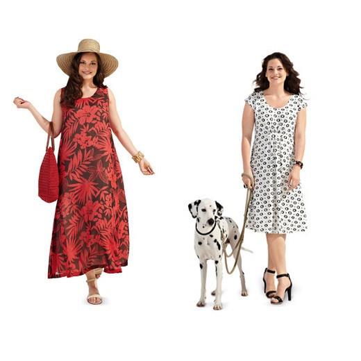 Schnitt  7100  Sommerkleid Alinie Sommerkleid Alinie